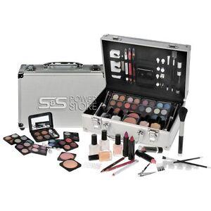 58 tlg Schminkset Alu-Design Schminkkoffer Make Up Kosmetik French Maniküre