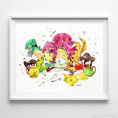 Alice in Wonderland Mad Hatter and Rabbit Disney Nursery Poster Print UNFRAMED](Mad Hatter And Alice In Wonderland)