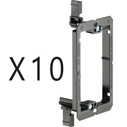 10 Pack - 1-Gang Drywall Bracket Face Wall Plate Mount Mud Ring Low Voltage LV1