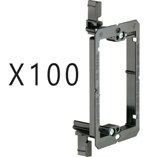 100 Pack - 1-Gang Drywall Bracket Face Wall Plate Mount Mud Ring Low Voltage LV1