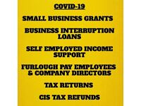 PERSONAL ACCOUNTANT, CORONAVIRUS GRANTS, FURLOUGH PAY, TAX RETURNS, TAX REBATE, CIS
