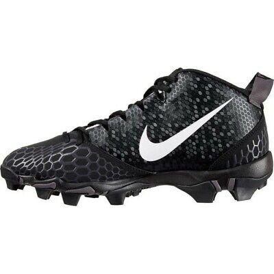 New Youth Nike Force Trout 5 Pro Keystone Baseball Cleats Black / White Size 6Y