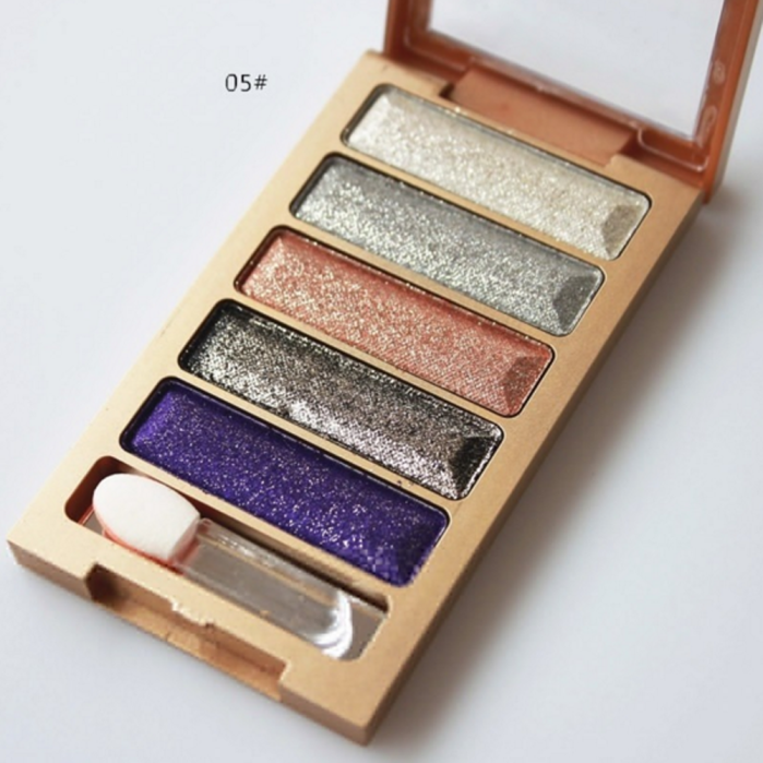 5 Colors Shimmer Eyeshadow Palette Makeup Cosmetic Glitter Eye Shadow Matte Set