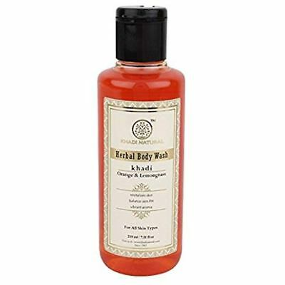 Khadi Natural Orange and Lemongrass Herbal Body Wash 210ml Free Shipping