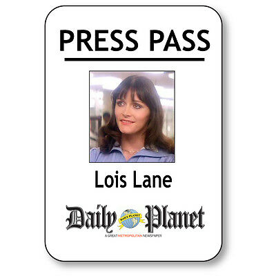 LOIS LANE NAME BADGE HALLOWEEN COSTUME PROP FOR SUPERMAN PRESS PASS MAGNETIC