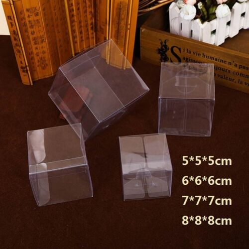 Square Clear Pvc Box For Party Gift Wedding Favors Candy Jewelry