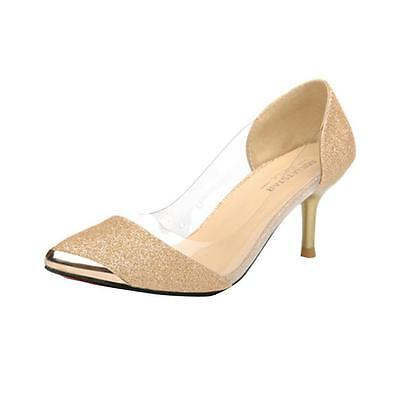 New Sexy Women Casual Pointed Toe Pumps High Heels Party Wedding Shoes Pumps  4