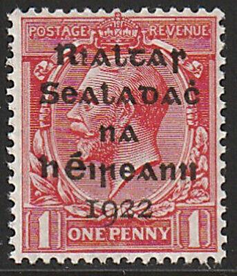 IRELAND, Scott #2: 1d, MNH, 1922 Dollard Overprint in Black