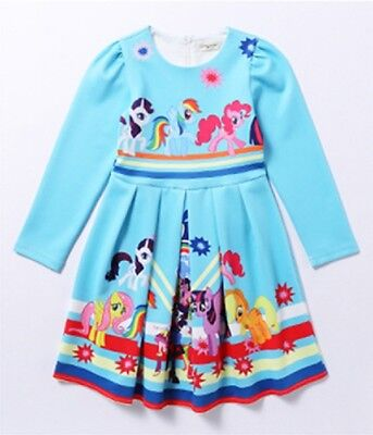 Little Girls Holiday Dresses ( Lovely Girls My Little Pony Long Sleeve Party Holiday Birthday Dresses)