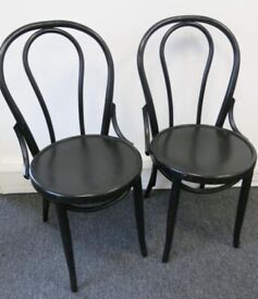 5 x FAMEG Bentwood Bistro Side Chairs Black