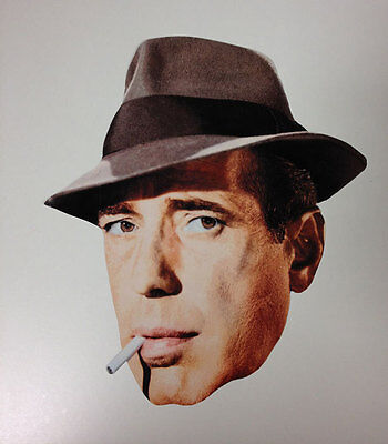 Humphrey Bogart Single 2D Card Face Mask - Great for Hollywood Themed Parties](Hollywood Themes For Parties)