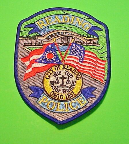 """READING OHIO 1851 OH  5""""  POLICE PATCH  FREE SHIPPING!!!"""