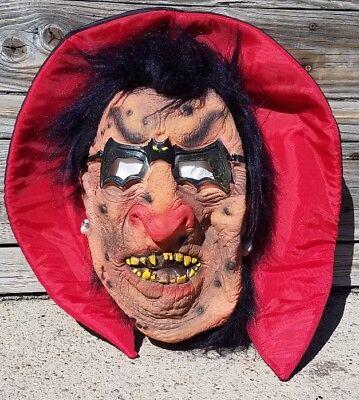 Awesome Zombie Demon Dracula With Bat Batman Glasses Halloween Mask