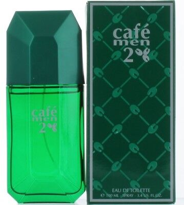 Cafe Men 2 by Cafe Parfums for Men EDT Cologne Spray 3.4 oz. New in Box
