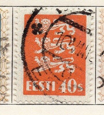 Estonia 1928-29 Early Issue Fine Used 40s. 087908