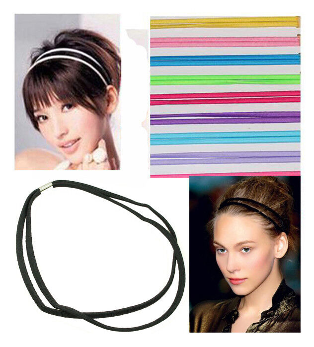 Gummi Haarband Haarschmuck Elastic Stretch Bänder Sport Haarband doppelt