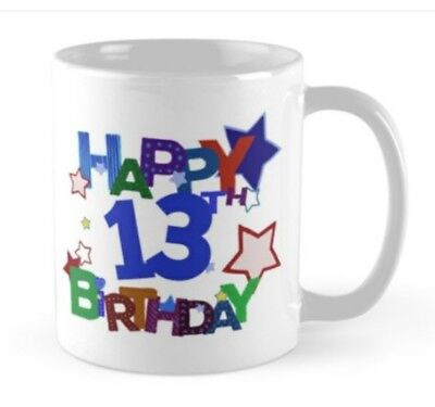 13 years 13th Birthday small gift idea mug present boy girl - 13th Birthday Ideas