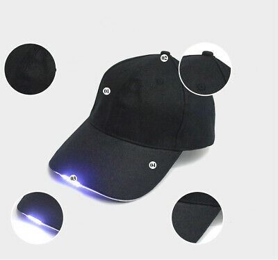 Adjustable Neutral Baseball Cap with 5LED Light Hat Outdoor Sport Hiking Camping - Light Hats