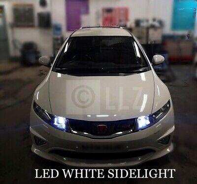HONDA CIVIC MK8 T10 8 SMD LED WHITE XENON BULBS NUMBER PLATE CANBUS FREE ERROR