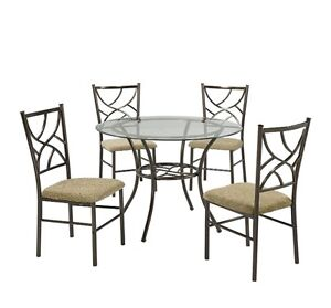 Bronze Martini 5 Piece Dinning set (table + Chairs)