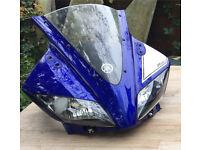 Yamaha YZF125R 2014 Complete head unit -Race Blue