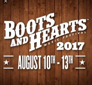 2 Boots and hearts general admission passes