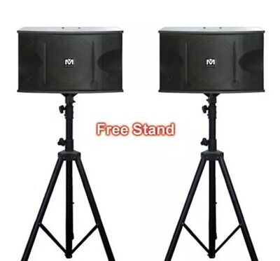 CS612 G3 Better Music Builder 600W Karaoke Music Vocal Speakers FREE