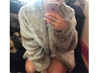 3 faux fur coats