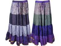 Womens Bohemian Skirts Bellydance Full Flare A-Line Gypsy Skirt Wholesale 2 Lot
