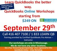 QuickBooks Online Training by Certified Pro-Advisor @ 249