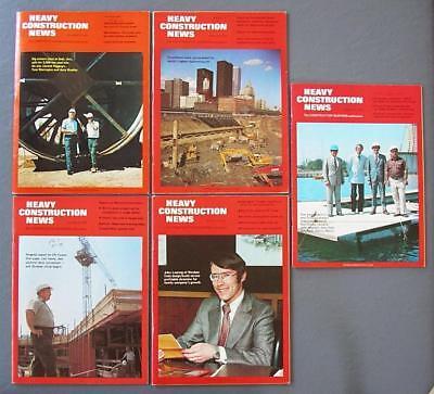 Orig Lot Of Five Heavy Construction News Magazines Toronto Cn Tower 1972-73-74