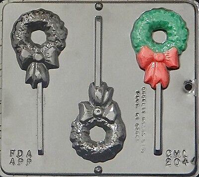 Wreath Lollipop Chocolate Candy Mold Christmas 2044 NEW ()