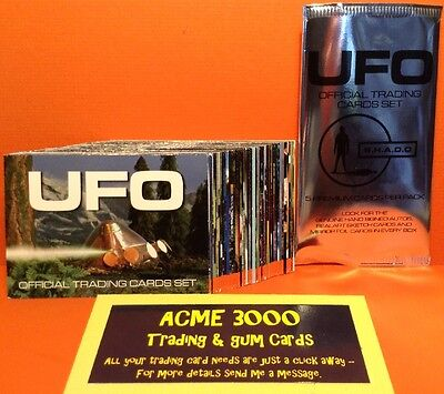 Gerry Anderson UFO Unstoppable - Basic Base Set of 54 Trading Cards + Empty Pack