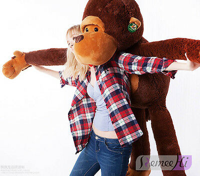 GIANT HUGE LARGE BIG STUFFED ANIMAL PLUSH BROWN MONKEY BEAR girlfriend gifts - Big Stuffed Monkey