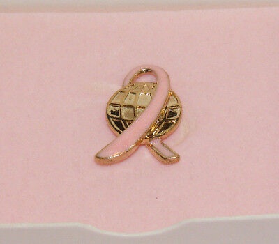 (AVON 2005 Goldtone Pink Enameled Walk around the World Breast Cancer PIN NIB AV2)