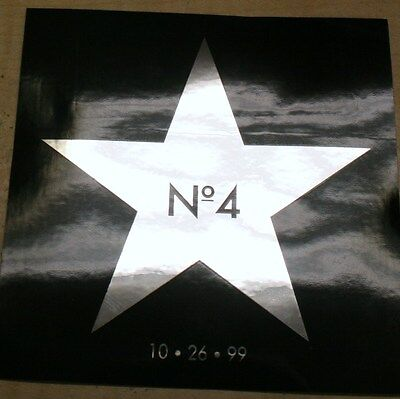 STONE TEMPLE PILOTS Number 4 Silver Star 10.26.99 Logo RARE PROMO STICKER [5]