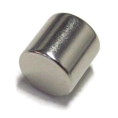 N52 Cylinder Magnet 1 Pc 38x38 Inch 10mm Rare Earth Neodymium .375 10 Lbs 4kg