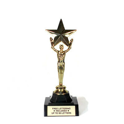 Victory, Male With Star Trophy- Achievement- Desktop Series- Free Lettering (Star Trophy)