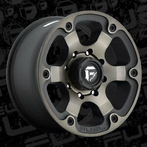 18x9 FUEL D564 BEAST MATTE BLACK WITH MACHINED TINT