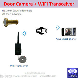 Low-cost-WiFi-Door-Camera-using-iPhone-Android-Smartphone-Video-Surveillance