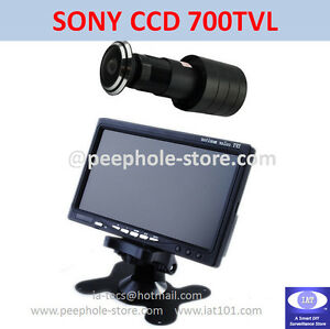 170-Wide-Angle-SONY-CCD-Door-Camera-w-7-034-LCD-Monitor-Home-Surveillance-System
