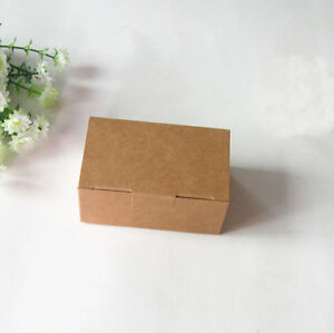 75x Brown Kraft Paper Boxes -Party Wedding Favour Box -Bomboniere Box -Rectangle