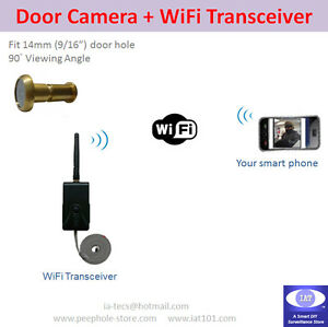Low-LUX-WiFi-Door-Camera-set-for-iPhone-Android-phone-Video-Surveillance-Plan-B