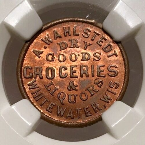 Whitewater WI960E-2a R-7 NGC MS-65 RB - A. Wahlstedt - Finest Known & Fuld Plate