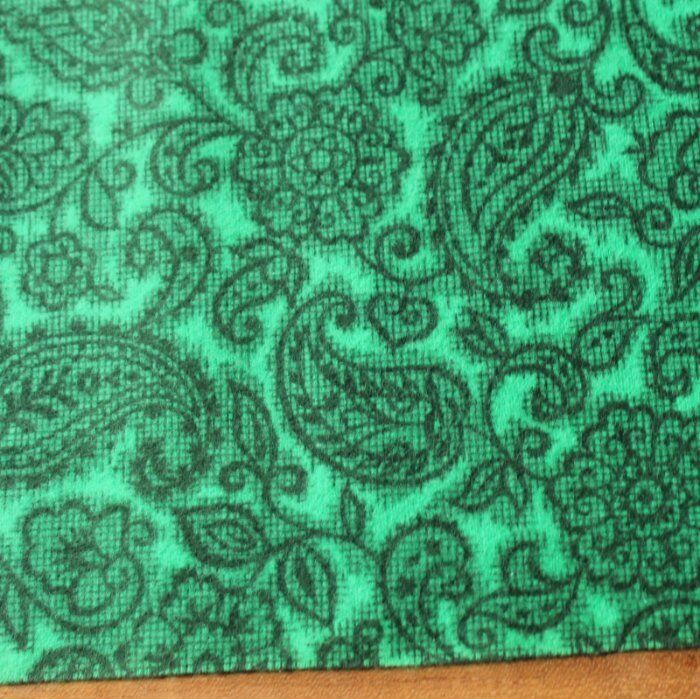 Vintage green printed 1950