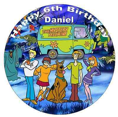 Scooby Doo And The Gang Personalised Cake Topper Edible Wafer Paper 7.5