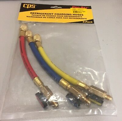 Cps 6 Refrigeration Hose 14 Ball Valve Adapters 3pk Ryb Hte