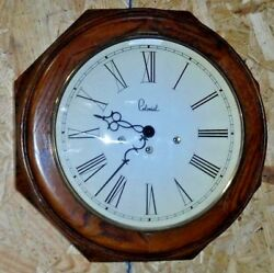 COLONIAL MOLYNEUX U.S. WALL / GALLERY WESTMINSTER CHIME CLOCK 8 DAY WORKING +KEY