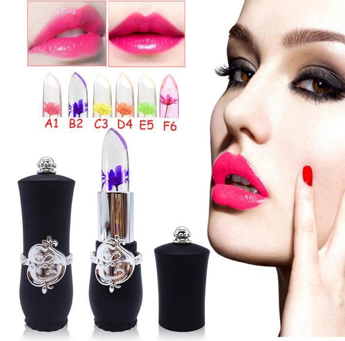 Beauty Bright Flower Crystal Jelly Lipstick Magic Temperature Color Lip mt