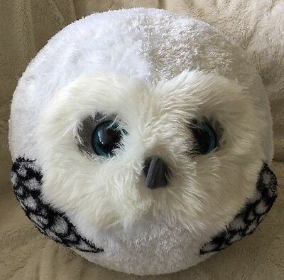 TY Beanie Ballz - HOOTS the White Owl (Large 13 inch) - No Paper Tag